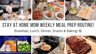 STAY AT HOME MOM OF 3 WEEKLY MEAL PREP ROUTINE! // COOK WITH ME// Jessica Tull