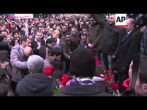 Thousands at graveside of teenager killed by police teargas canister