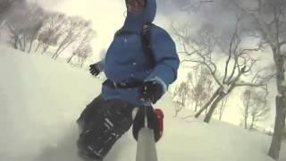 Deep Powder Snowboarding- in Niseko Hokkaido Japan Gopro Thumbnail