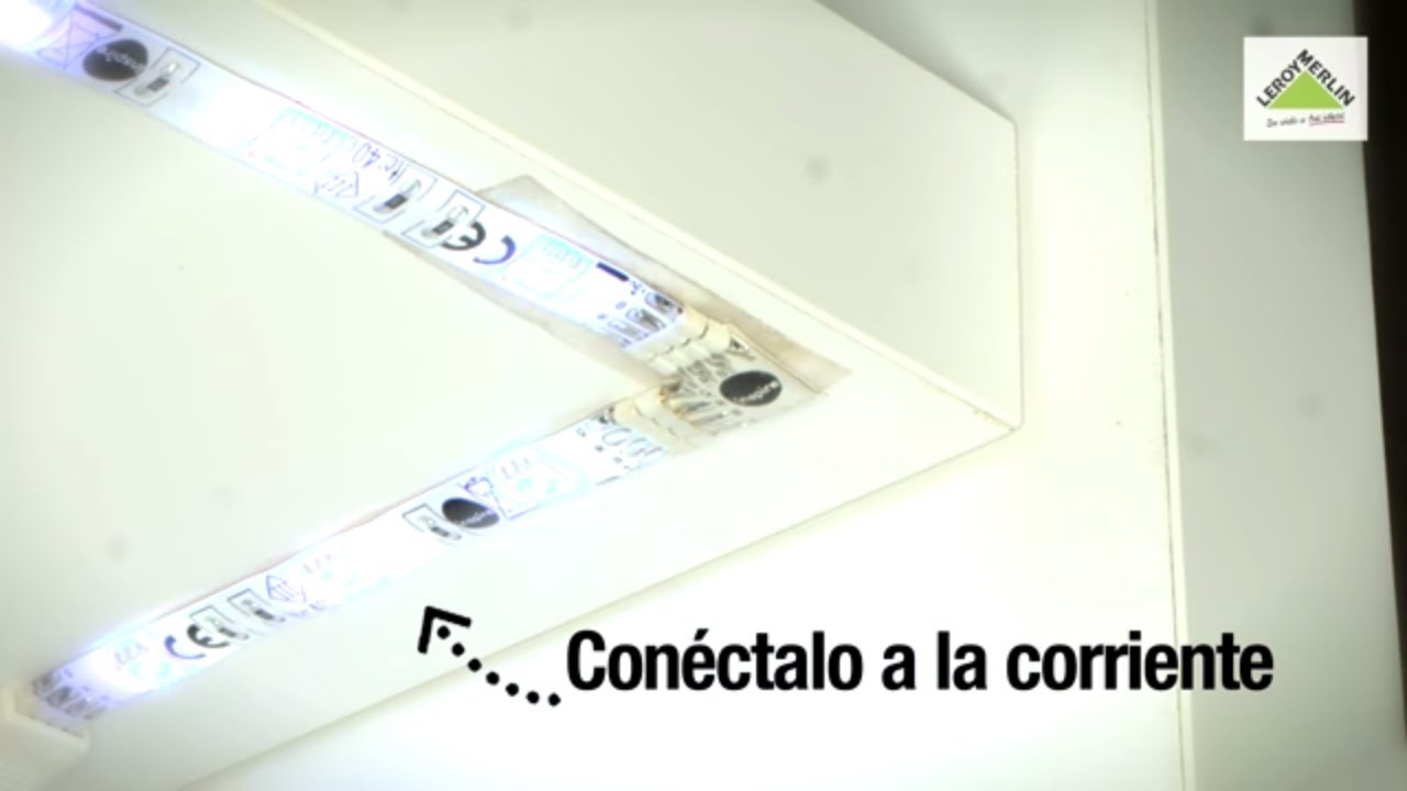 C mo instalar y empalmar tiras de led leroy merlin youtube for Tiras led leroy merlin