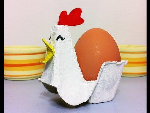 C mo hacer una gallina huevera de pascua con cart n tutorial diy youtube Manualidades con materiales de casa
