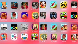 Ice Scream,Scary Teacher,Evil Nun,Mr Meat,Granny 2,Granny,Stick Jailbreak,PvZ,Subway Surf,