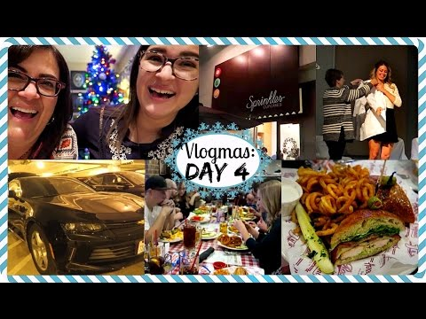 Celebrating, Eating at Sprinkles Cupcakes, and Our Car Fiasco | VLOGMAS 2016: DAY 4