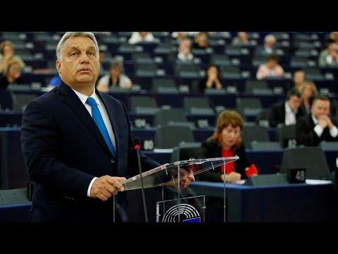 Líder húngaro combate moção no Parlamento Europeu