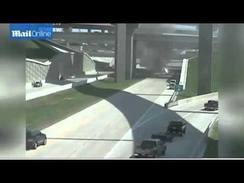 [full]-raw-highway-surveillance-video-18-wheeler-flies-off-highway-on-to-road-below