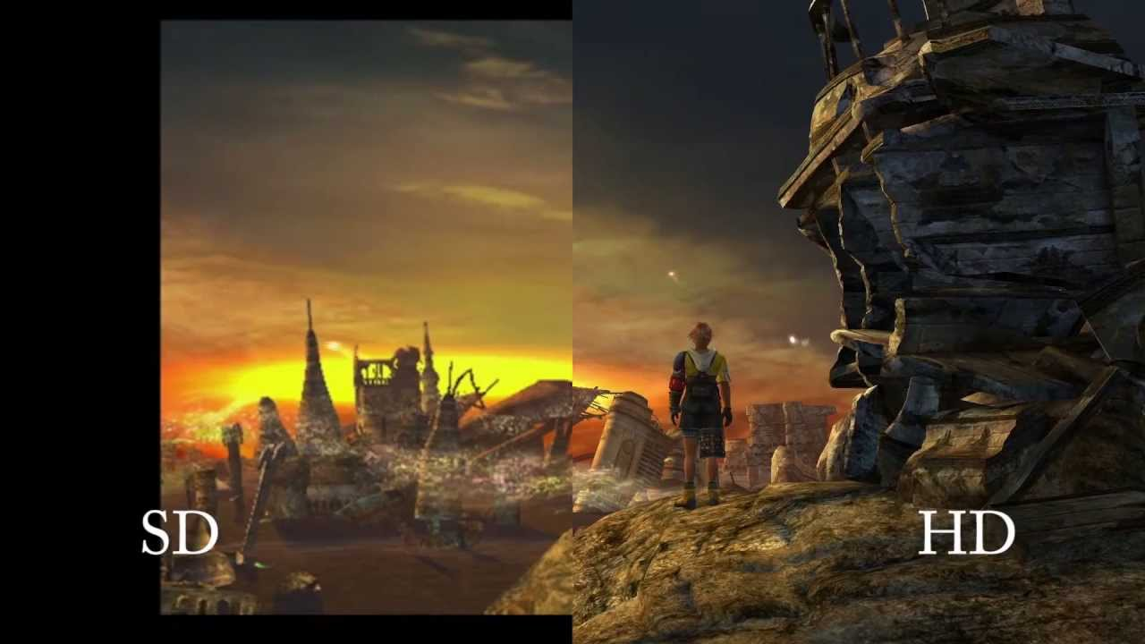 Hd Widescreen Fall Wallpaper Standard High Definition Comparison Final Fantasy X X