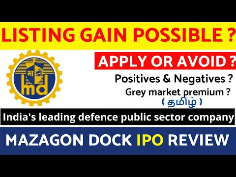Mazagon Dock IPO Review Tamil I Mazagon dock shipbuilders limited I Mazagon Dock IPO Analysis Tamil