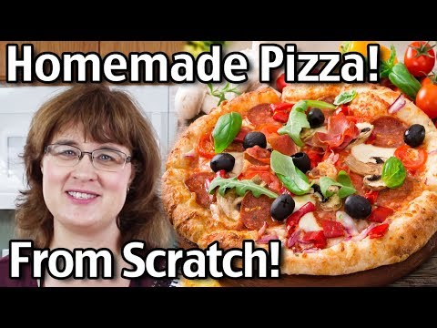 How To Make Homemade Pizza! Homemade Pizza Dough and More!