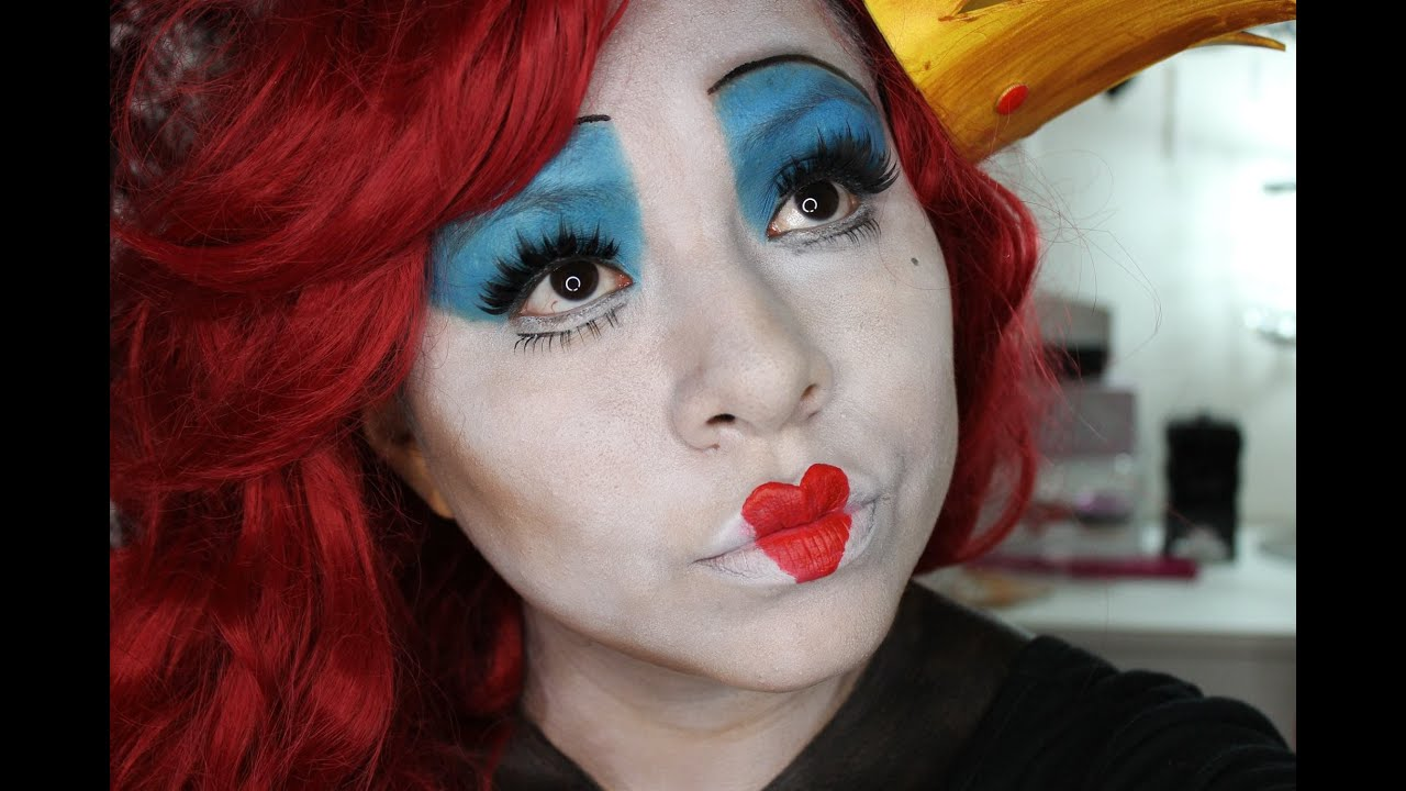 Resultado de imagen de maquillaje la reina de corazones