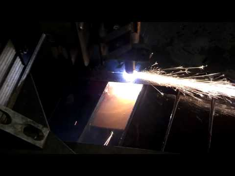 Cutting a metal art saying on my cnc table