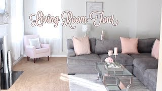 Soft Glam Living Room Tour