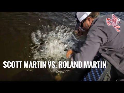 Scott Martin vs. Roland Martin Team Challenge for Big Smallmouth Bass - SMC 13:6