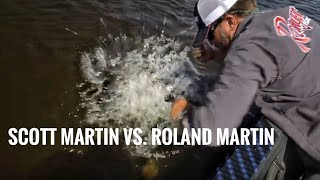 Scott Martin vs. Roland Martin Team Challenge for Big Smallmouth Bass - SMC 13:6