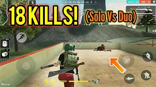 Killing is bad.. (Solo Vs Duo) - Free fire Battlegrounds