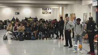 Students On High School Campus Speak Out Against Racism
