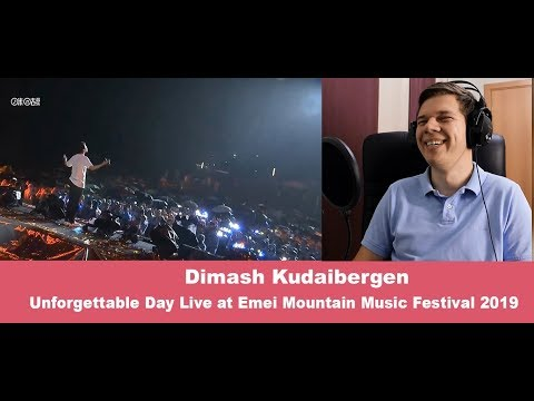 REACTS to DIMASH-Unforgettable Day Live at Emei Mountain Music Festival 2019