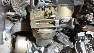 Démontage nettoyage carburateur honda tondeuse mcculloch