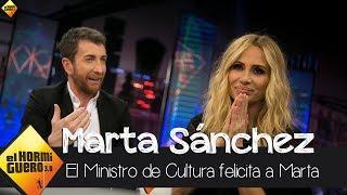 """Marta: """"El Ministro de Cultura me ha felicitado por mi versión del himno"""" - El Hormiguero 3.0"""
