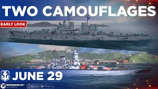 World of Warships Blitz: Early Look at Two Camouflages For Musashi and Buffalo