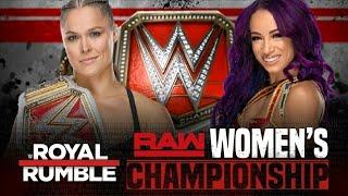 WWE Royal Rumble 2019: Ronda Rousey vs Sasha Banks - WWE2K19