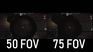 EFT M4A1 Crouched - Full auto 50 vs. 75 FOV