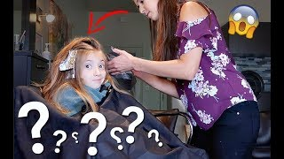 My 8 yr old CUT & DYED her hair!!