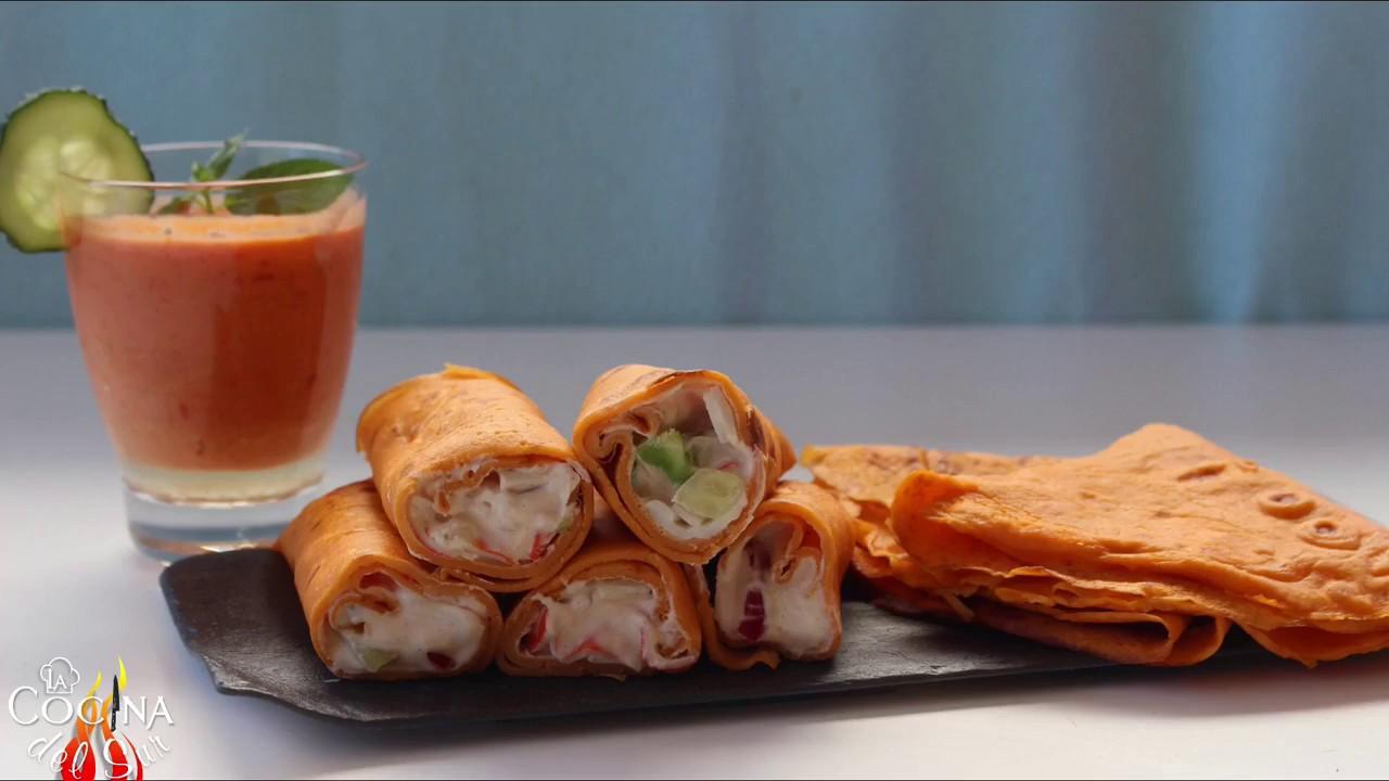 Crepes de Gazpacho por La Cocina del Sur con El Menú del Guerrero ...