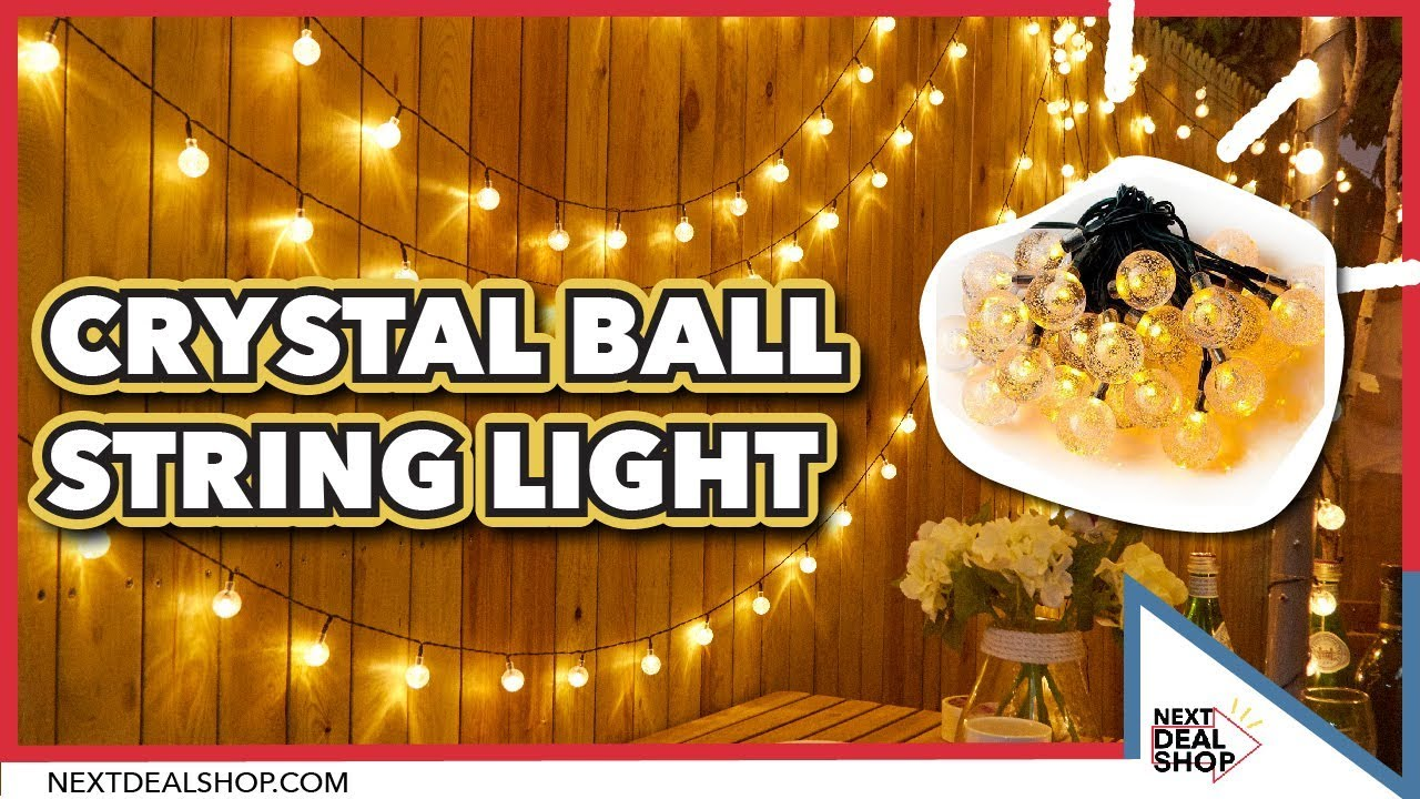 clear crystal led light garland by red lilly ...   Crystal Light Show String