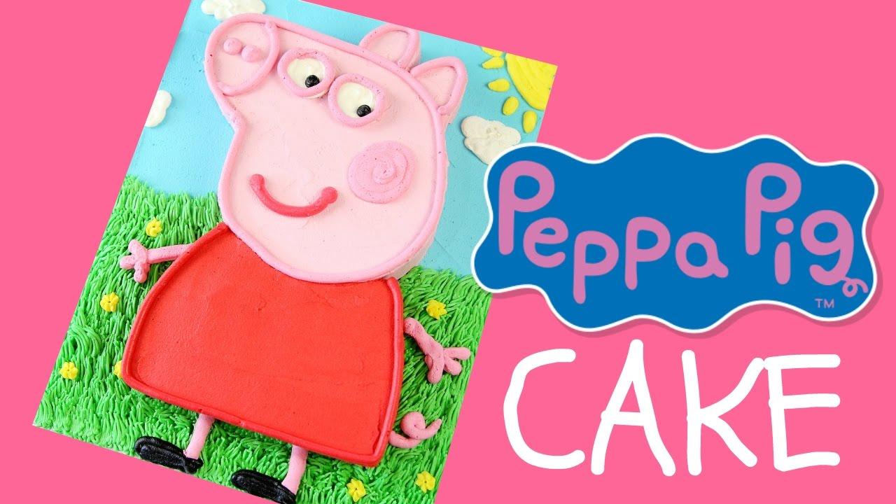 Make A Peppa Pig Cake Youtube