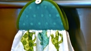 Make A Hanging Potholder Dishtowel