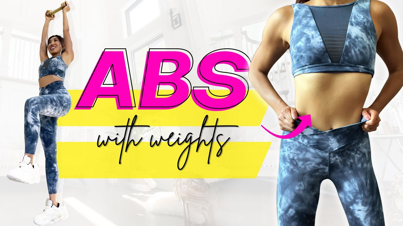 12 Minute Standing Ab Workout (with weights)