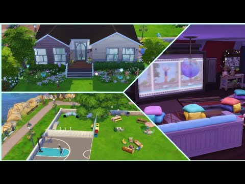 park with a movie theater tour | The Sims 4 |