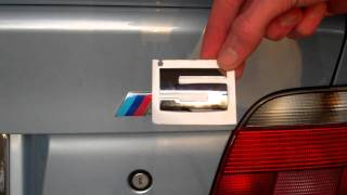 "Replace ""BMW"" ""///M"" ""5"" Badges on E39 M5"