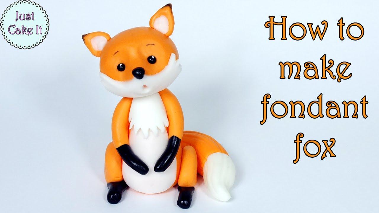 How To Make Fondant Fox Jak Zrobić Figurkę Lisa Z Masy