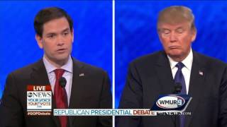 2016 gop debate donald trump marco rubio on meaning of conservatism