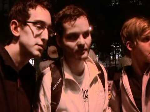 Wild & crazy German tourists visit Occupy Wall Street's Zuccotti Square 9/21/2011