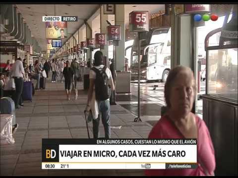 Los precios de los pasajes de micro – Telefe Noticias
