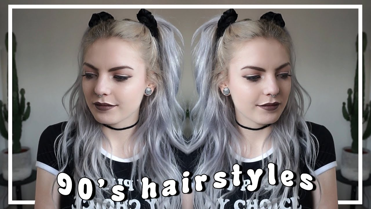 90's hairstyles quick & easy | using scrunchies