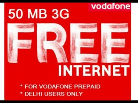 Vodafone Free Internet Offer Get 50MB 3g Data Dail