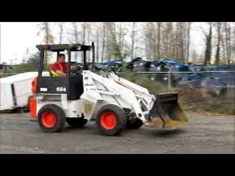 Sold Bobcat 2410 Mini Articulating Wheel Loader 68
