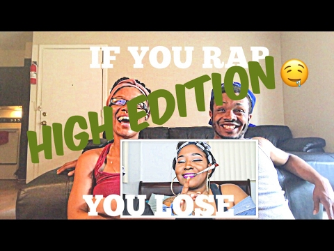 IF YOU RAP YOU LOSE (Part 2) Challenge!!!! ( HIGH Edition ) REACTION!!!! Amanda & Jimmy