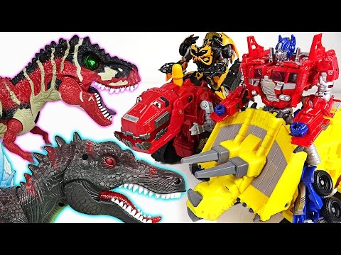 Thumbnail: Transformers! Combine your strength with Dinotrux and defeat the terrible dinosaurs! - DuDuPopTOY