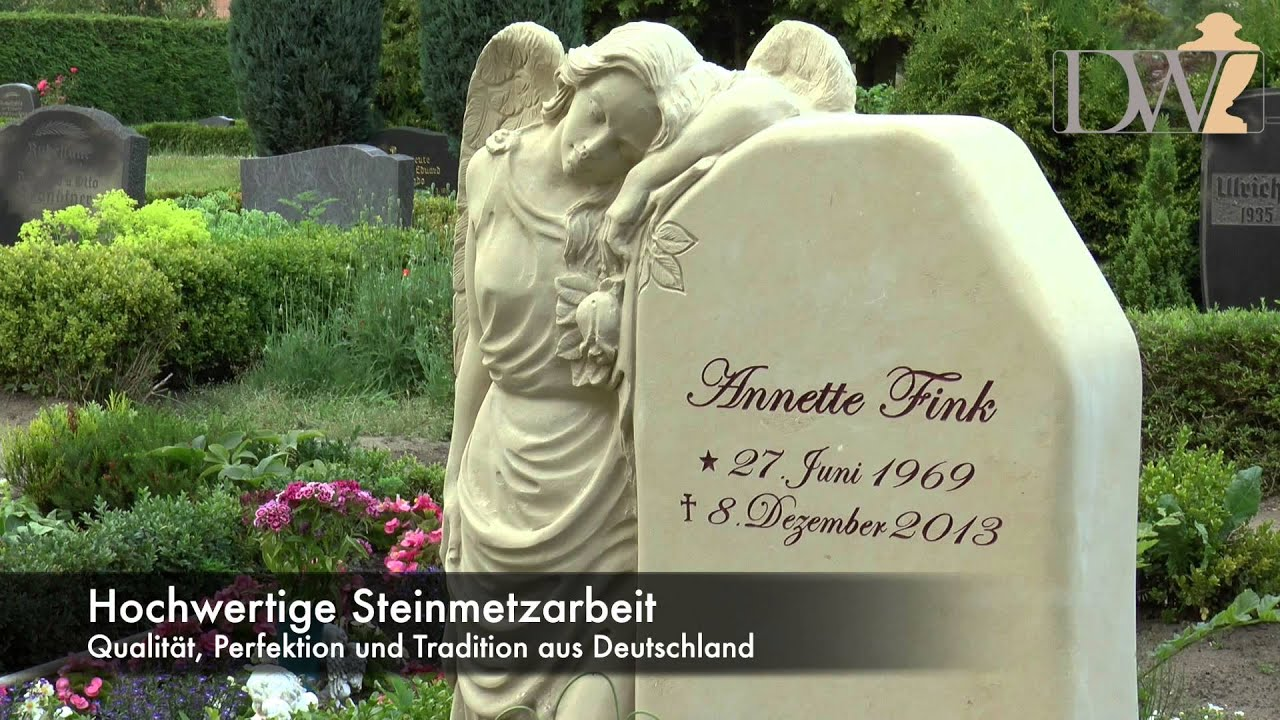 "engel grabstein aus sandstein - ""clarissa"" - youtube"
