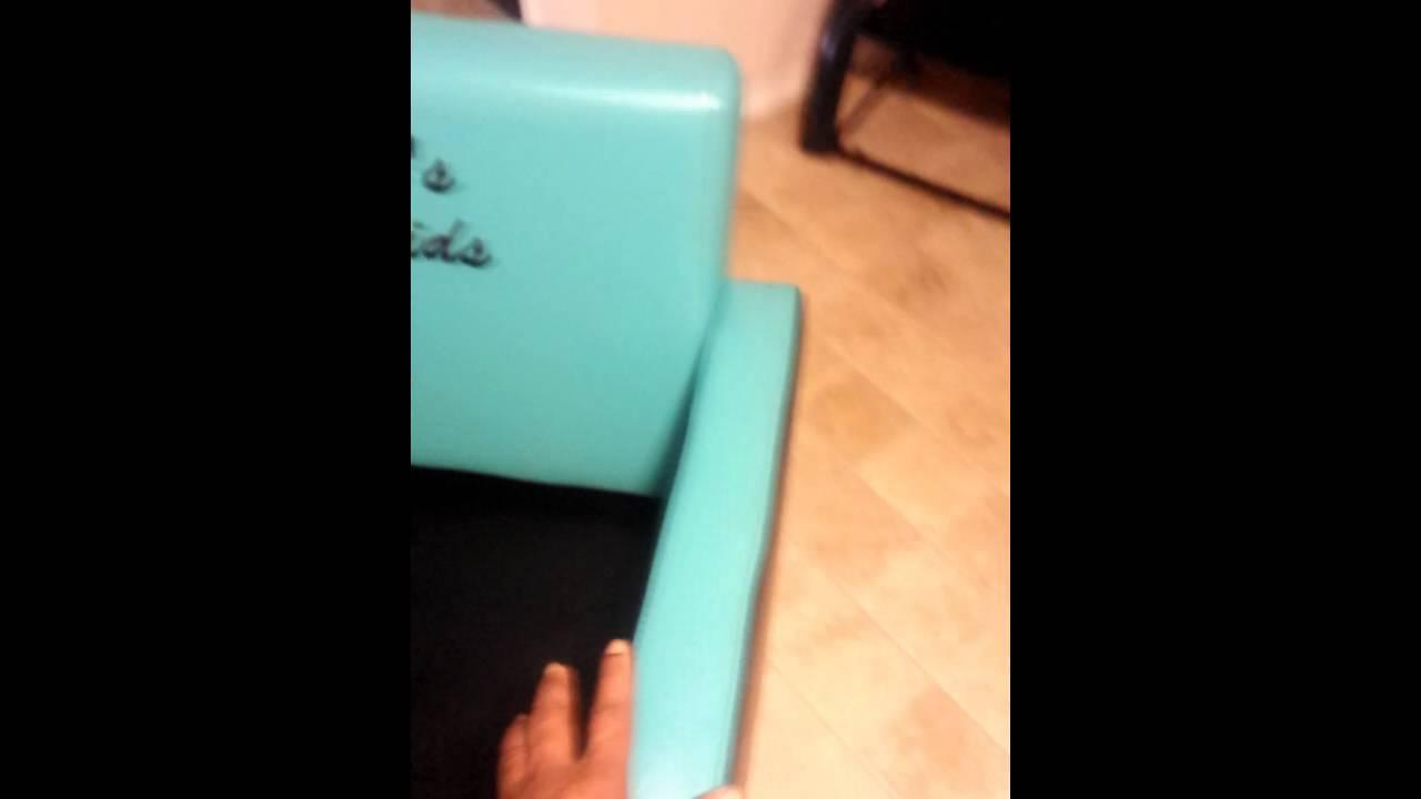 custom upholstered salon chair youtube