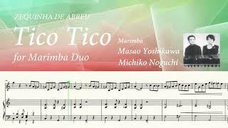 【マリンバ】Tico Tico ティコティコ_吉川雅夫& 野口道子 Marimba Duo (マリンバ デュオ)