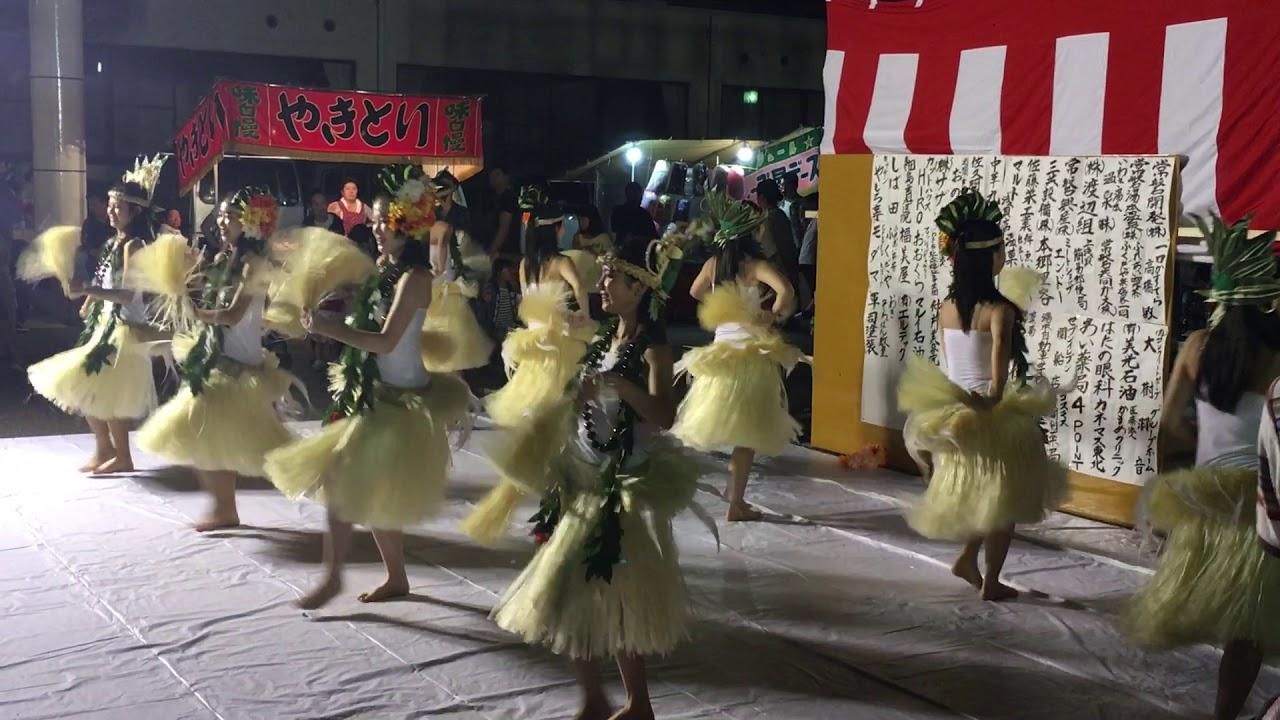浅貝団地 水神宮祭 高校生フラガール
