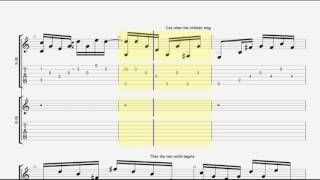 White Lion When The Children Cry Guitar Tab
