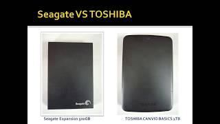 Seagate VS TOSHIBA External Hard Drive Benchmark