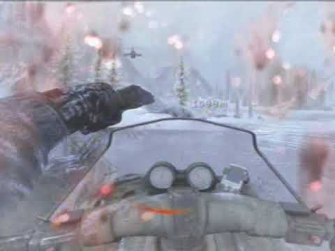 Call of Duty Modern Warfare 2 Snowmobile Riding