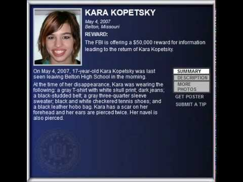 fbi wanted   kara kopetsky   kidnappings amp missing persons